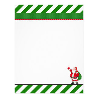 Christmas Santa Holiday letterhead stationery