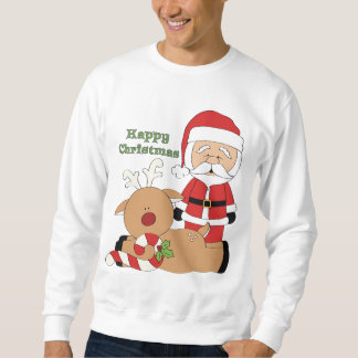 Christmas Santa Holiday mens sweatshirt