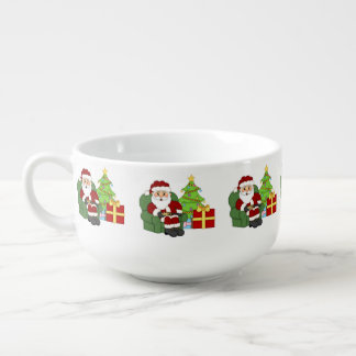 Christmas Santa Holiday soup mug