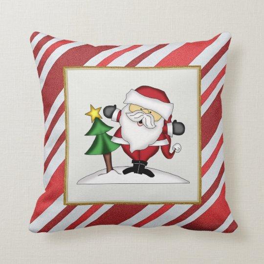 Christmas Santa Holiday throw pillow