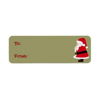 Christmas Santa Labels