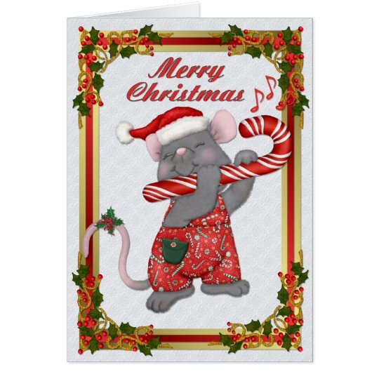 Christmas Santa Mouse Tunes Card