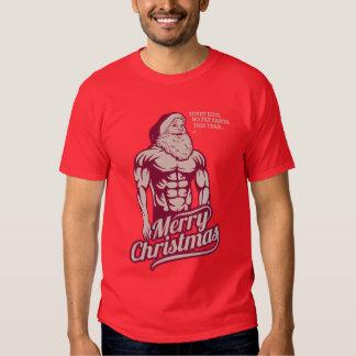 CHRISTMAS SANTA MUSCLE TSHIRT