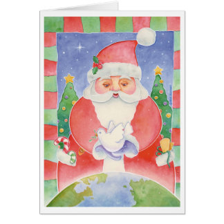 Christmas Santa Peace Holiday Card