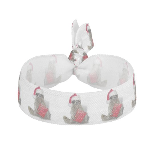 Christmas Santa Raccoon Bandit Ribbon Hair Tie