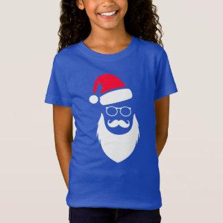 Christmas Santa Red Hat Beard Glasses And Mustache T-Shirt