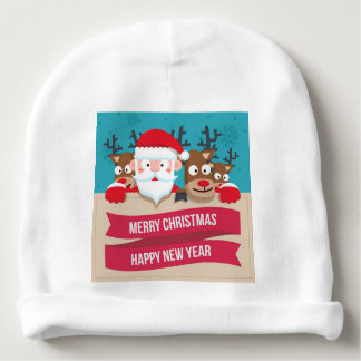Christmas Santa Reindeer Cute Cartoon Gift Baby Beanie