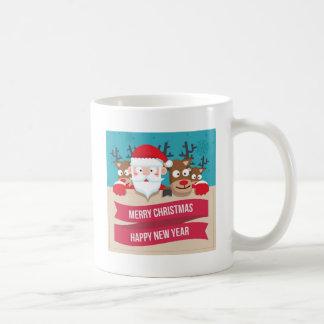 Christmas Santa Reindeer Cute Cartoon Gift Coffee Mug