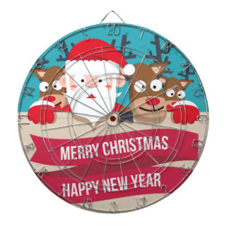 Christmas Santa Reindeer Cute Cartoon Gift Dartboard
