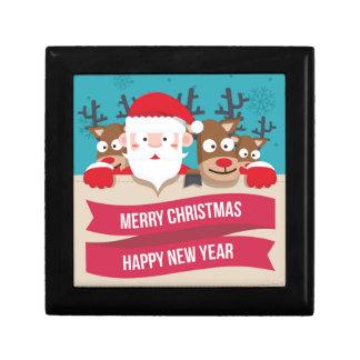 Christmas Santa Reindeer Cute Cartoon Gift Gift Box