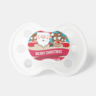 Christmas Santa Reindeer Cute Cartoon Gift Pacifier