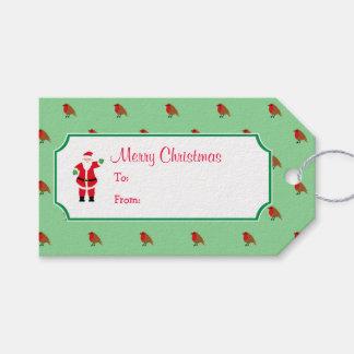 Christmas Santa & Robin Gift Tag