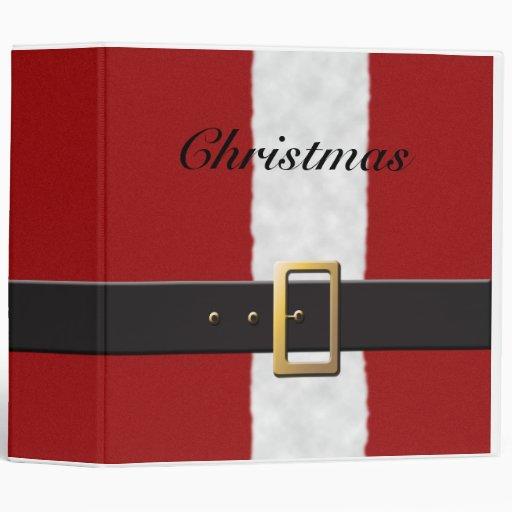 Christmas Santa Suit Binder