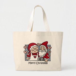 Christmas Santa totebag Large Tote Bag