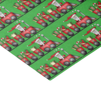 Christmas Santa Train Holiday tissue paper