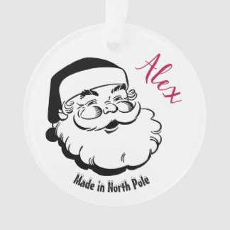 Christmas Santa tree ornament for her, cusomizable