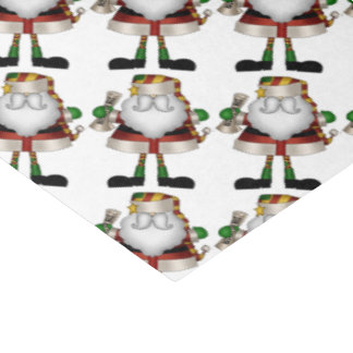 Christmas Santa with list Holiday tissue paper