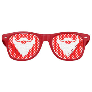 Christmas Santa's beard party glass Retro Sunglasses