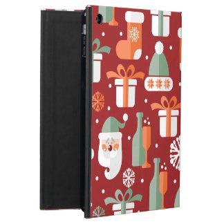 Christmas Santa's Gifts Pattern iPad Air Covers