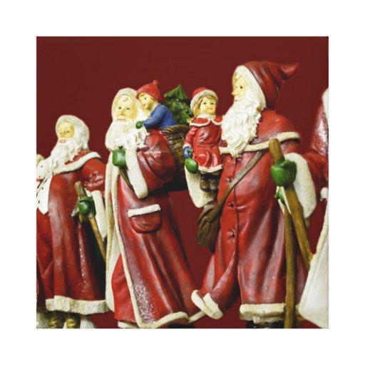 Christmas Santas Saint Nick Holiday Gifts Canvas Print