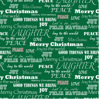 Christmas Sayings Typography Photo Sculpture Ornament