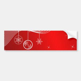 Christmas Scene Bumper Stickers