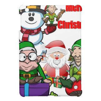 Christmas Scene Elfs Snowman Santa iPad Mini Cases
