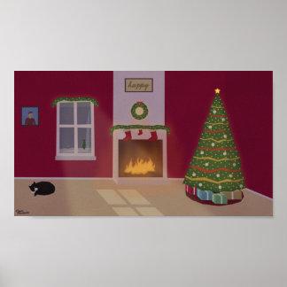"""Christmas Scene Poster (12.8"""" x 7.2"""")"""
