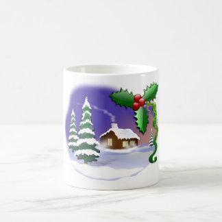 Christmas Scene Winter Landscape Festive Mug