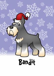 christmas schnauzer add your pets name ceramic ornament - Christmas Pet Names