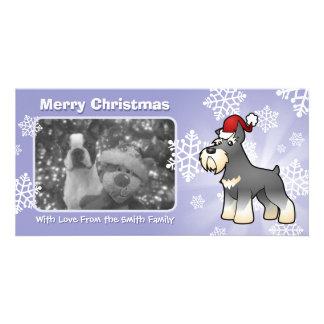 Christmas Schnauzer Photo Card Template