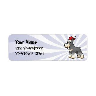 Christmas Schnauzer Return Address Label