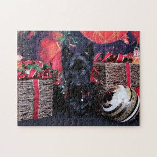 Christmas - Scottie - Paisley Jigsaw Puzzle
