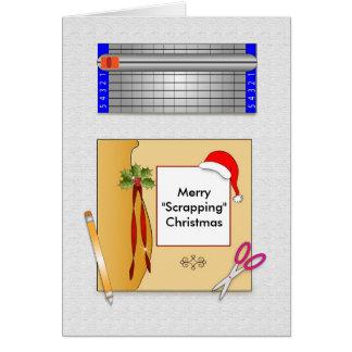 Christmas Scrapbook Paper Greeting Card