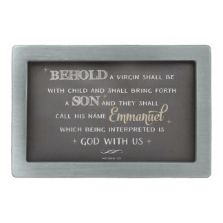 Christmas Scripture - Behold Belt Buckle