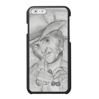 Christmas - Scrooge in Black and white Incipio Watson™ iPhone 6 Wallet Case