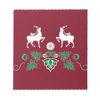Christmas seamless pattern notepad
