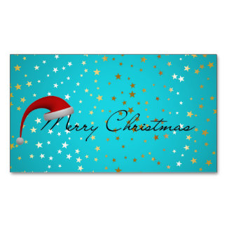 Christmas Season Magnetic Business Card