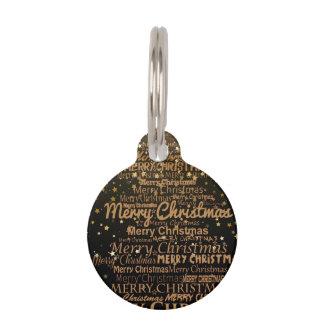 Christmas Season Pet Name Tag