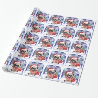 Christmas Season Winter Pug Wrapping Paper