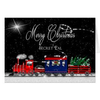 Christmas - SECRET PAL - Snowy Night-Train Card