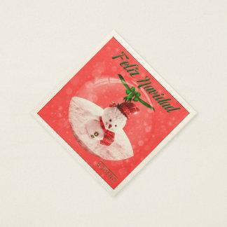 CHRISTMAS SEVILLETAS SNOWMAN PAPER NAPKINS