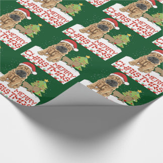Christmas Shar Pei Wrapping Paper