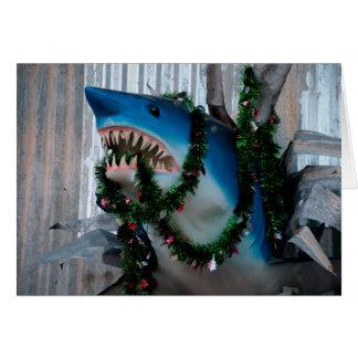 Christmas Shark card