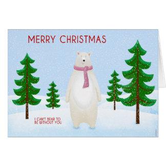 Christmas She Bear Card