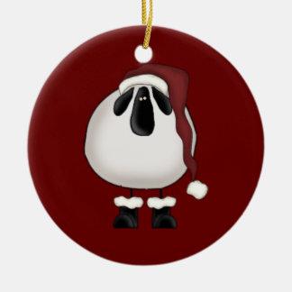 Christmas Sheep Ceramic Ornament