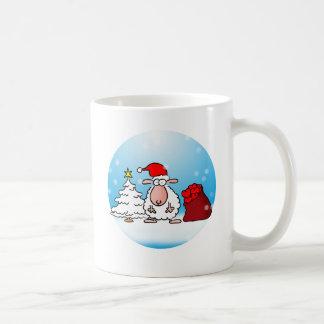 Christmas sheep coffee mug