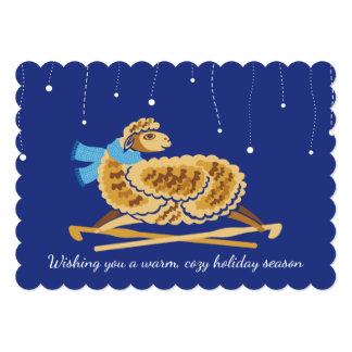 Christmas sheep crochet hooks scarf handmade by card