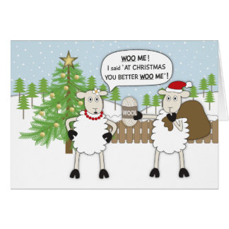 Christmas Sheep Humour Card