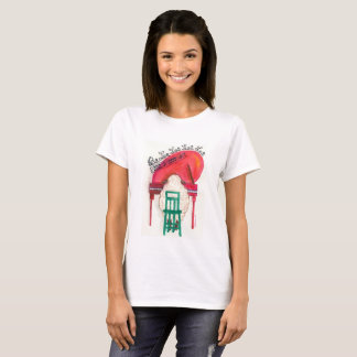 christmas sheep playing the piano T-Shirt